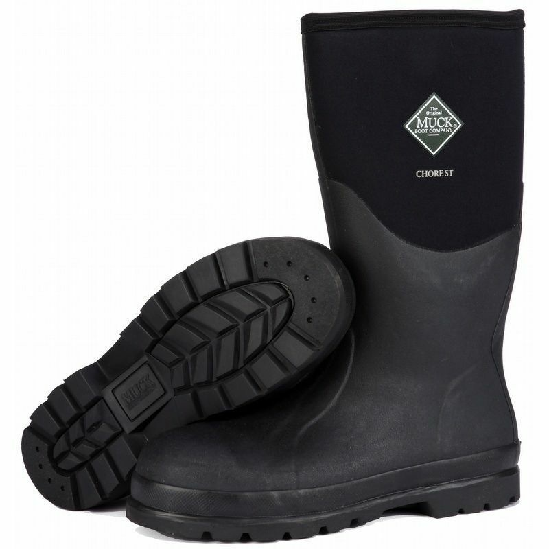 chs 000a muck boot steel toe hi cut chore boot mens