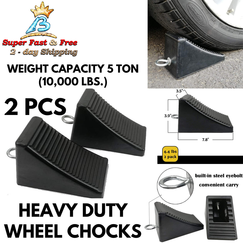 Camper Wheel Chocks >> Solid Rubber Wheel Chock Camper Parts And Accessories ...