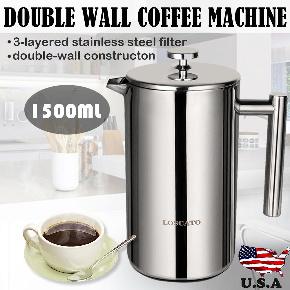 34oz 50oz Double Wall Stainless Steel French Coffee Press
