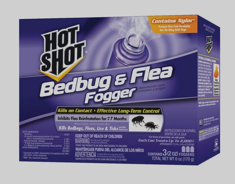 3 2oz cans hot shot fogger insect killer indoor bed bugs