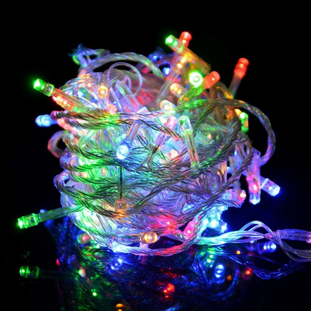 100led 16ft color changing decorative party christmas string light control ebay. Black Bedroom Furniture Sets. Home Design Ideas