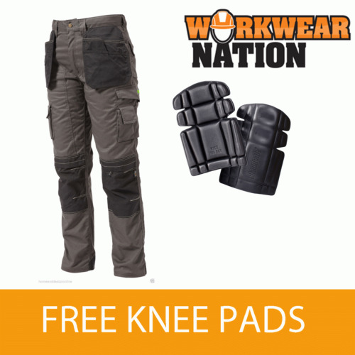 Apache Holster KNEE Pad Trouser Workwear Work Cordura APKHT GREY FREE KNEE PADS