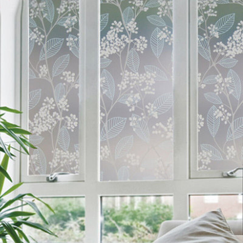 Static cling window film glass stained cover frosted for Window cover for home