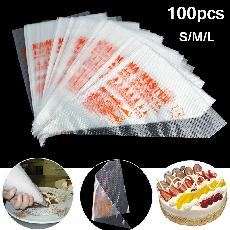 Cake Decorating With Ziploc Bag : 100pcs Plastic Disposable Pastry Bag Icing Piping Cake ...