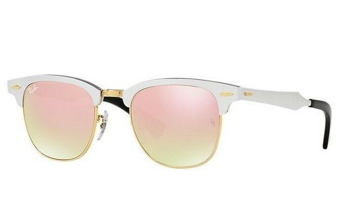 4408322c0d96f Ray-Ban ALUMINIUM CLUBMASTER Copper FLASH LENS Silver Sunglasses RB 3507 137  7O 8053672603941   eBay