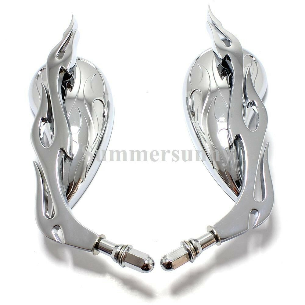 Chrome teardrop motorcycle parts rear view custom mirrors for Custom mirrors