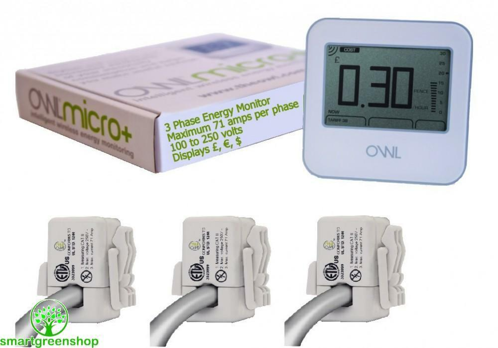 Nz Single Phase Smart Meter : Owl micro cm phase wireless energy monitor