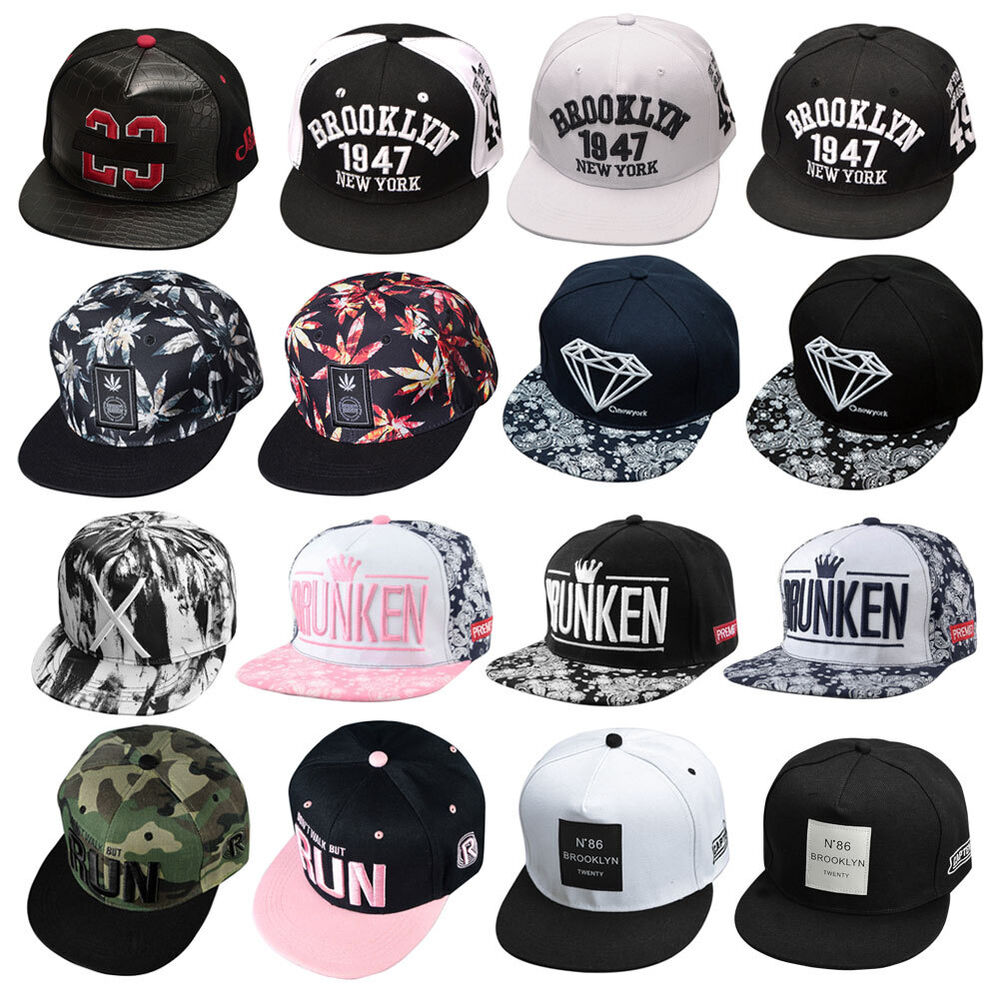 Cool Snapback Hats: Fashion Adjustable Unisex Hip Hop Bboy Baseball Hat