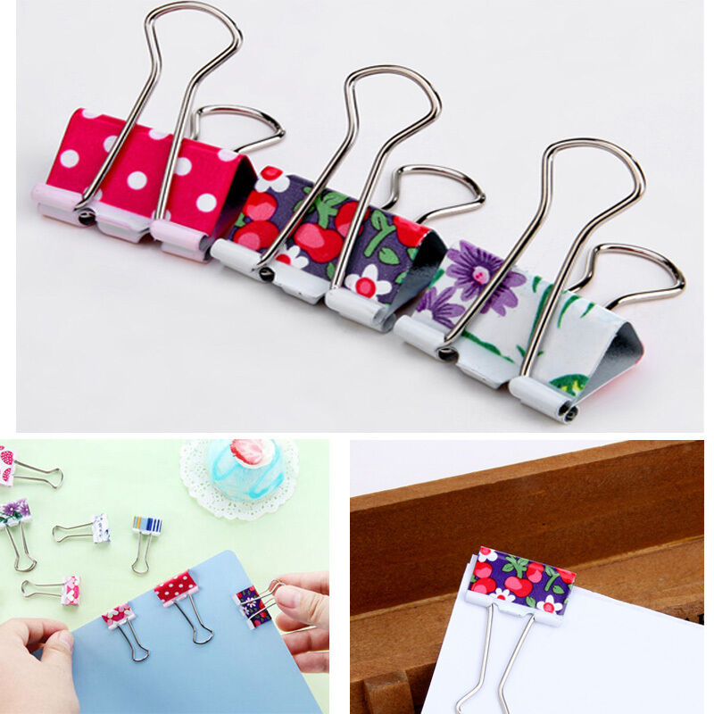 24pcs 19mm Colorful Metal Binder Clips Note Letter Paper