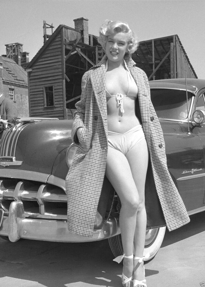Details about Marilyn Monroe photo Sexy Voluptuous Movie Star, Bra Bikini  Ponitac 1950s