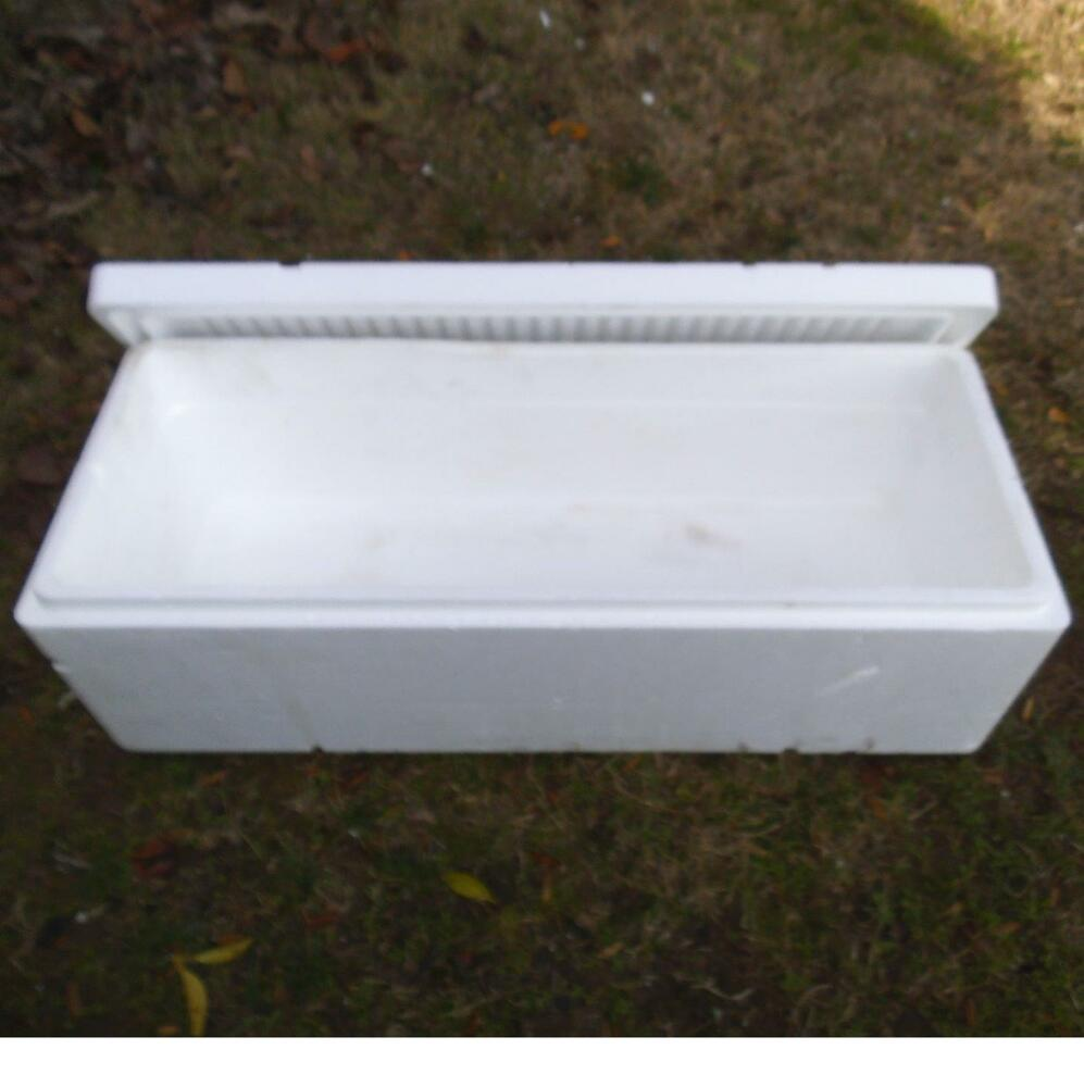 Large Styrofoam Coolers ~ Extra long styrofoam insulated shipping cooler container