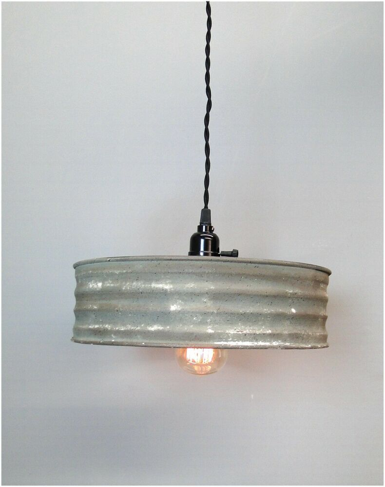 Riddle sifter vintage style pendant light fixture metal for Metal hanging lights