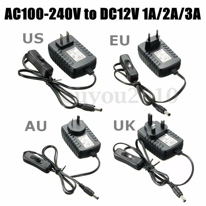 Ac 100 240v To Dc 12v 1a 2a 3a Power Supply Adapter Switch For Light