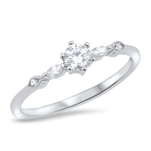 simple wedding ring 925 sterling silver cut clear cz engagement wedding 7520