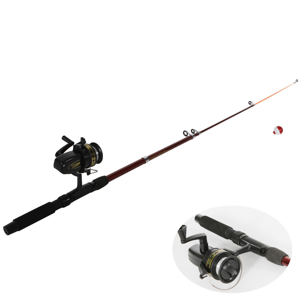 New portable fishing rod with fishing reels lines floats for Fishing rods and reels