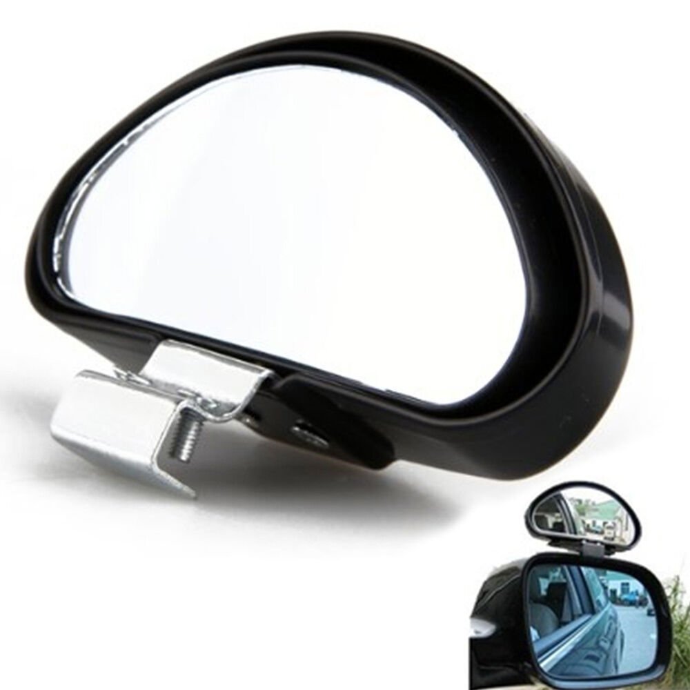 2pcs auto clear wide angle rearview side blind spot mirror car accessories ebay. Black Bedroom Furniture Sets. Home Design Ideas