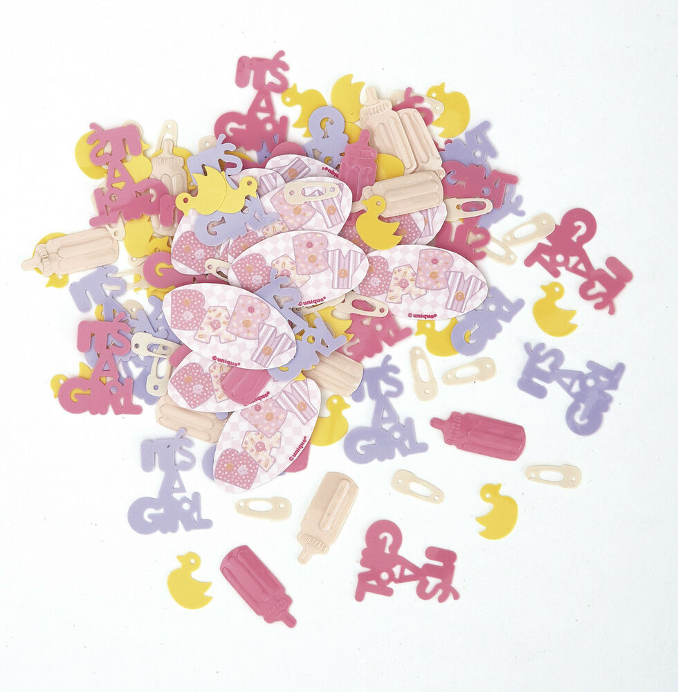 Confetti baby pink stitching m24242 favours party for Baby confetti decoration
