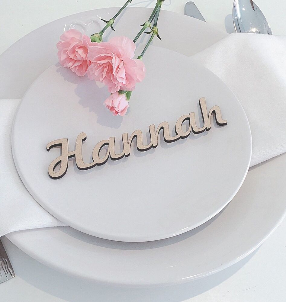 Table Names Wedding: Wooden Wedding Place Name, Place Setting, Table Setting