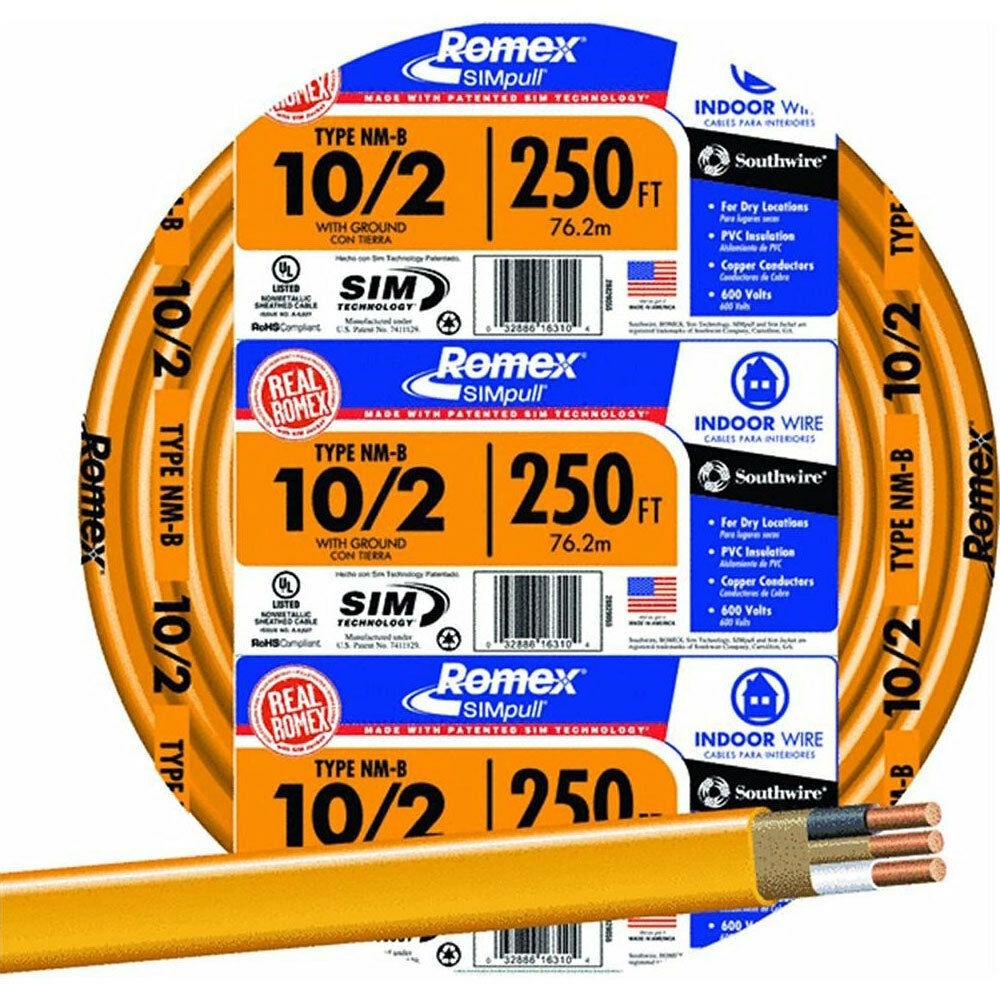 New Southwire 12 2 X 250 Roll With Ground Nm B Romex