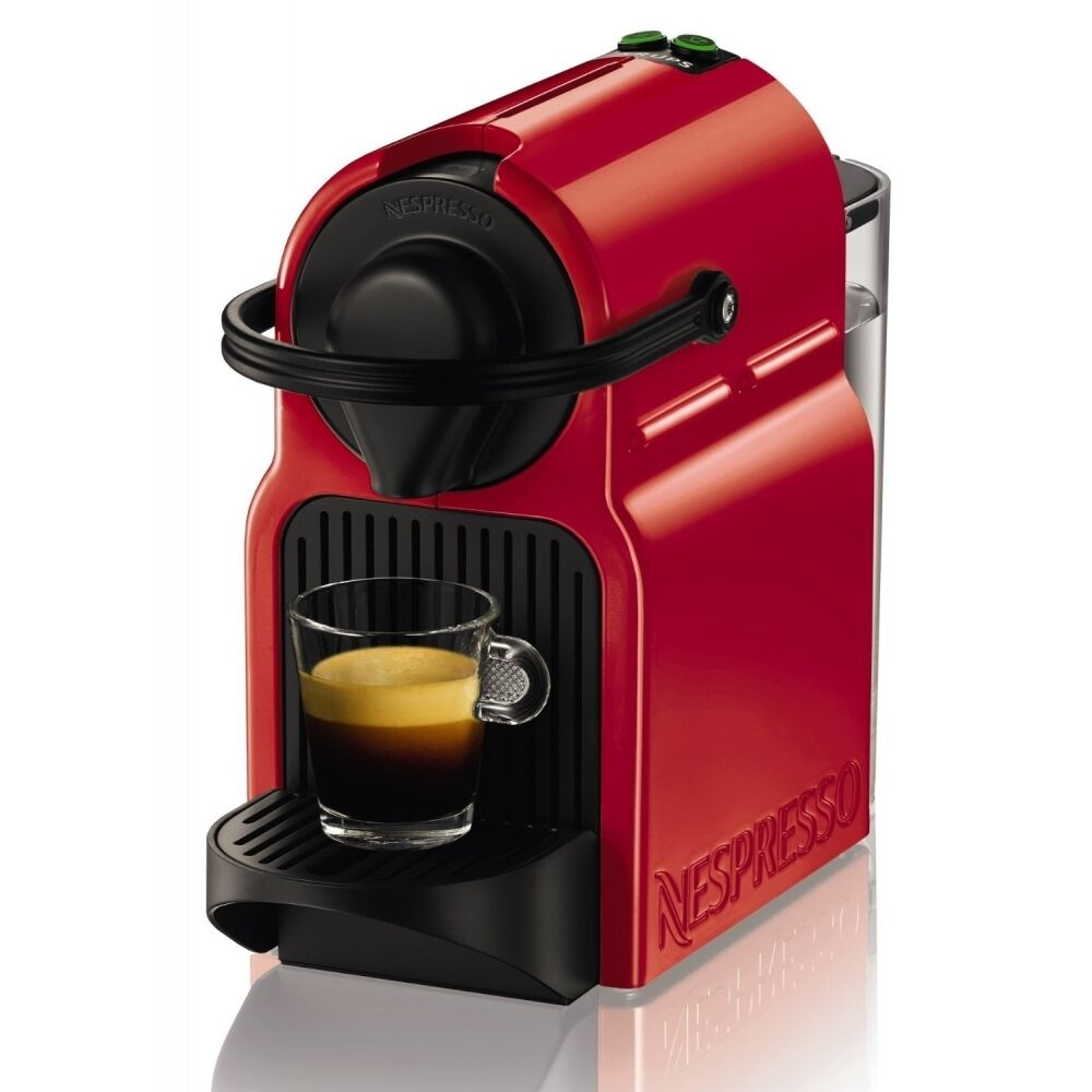 krups xn1005f nespresso inissia rot 19 bar pumpendruck thermoblocksystem ebay. Black Bedroom Furniture Sets. Home Design Ideas