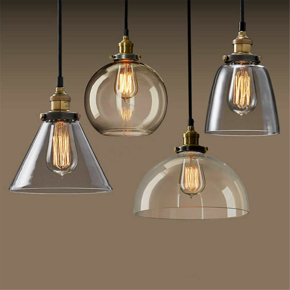 Hanging Light Fixture Replacement Glass: Modern Vintage Ceiling Light Crystal Glass Pendant