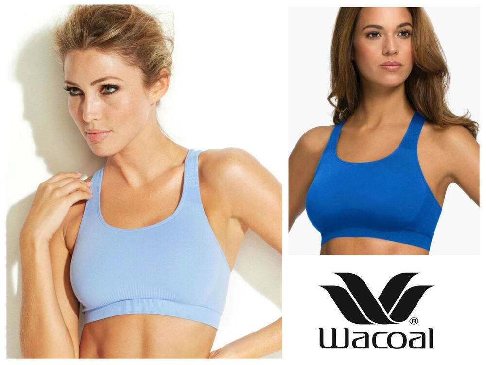 6158650fd8 Details about Wacoal Seamless Wireless Sports Bra Top 852243 Wire Free  T-Back Sport Top   New