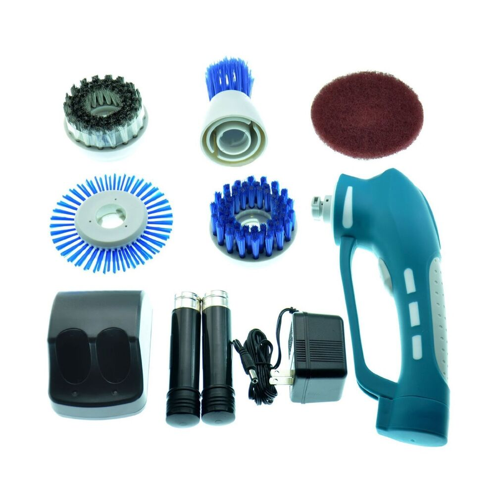 Portable Cordless Power Scrubber With Rechargeable Battery