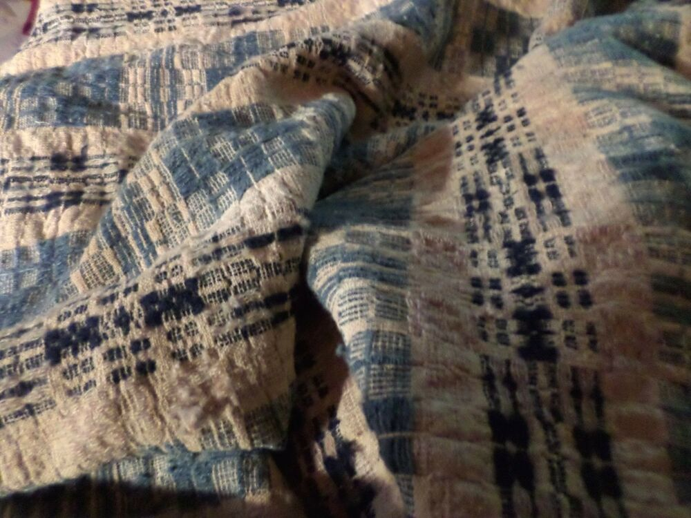 Antique Woven Wool Bed Cover Green