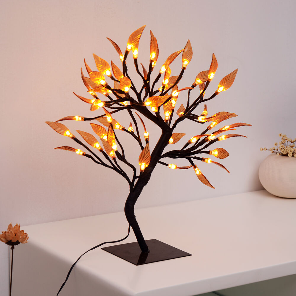 Led cherry blossom desk bonsai tree light lamp home xmas for Cherry tree floor lamp