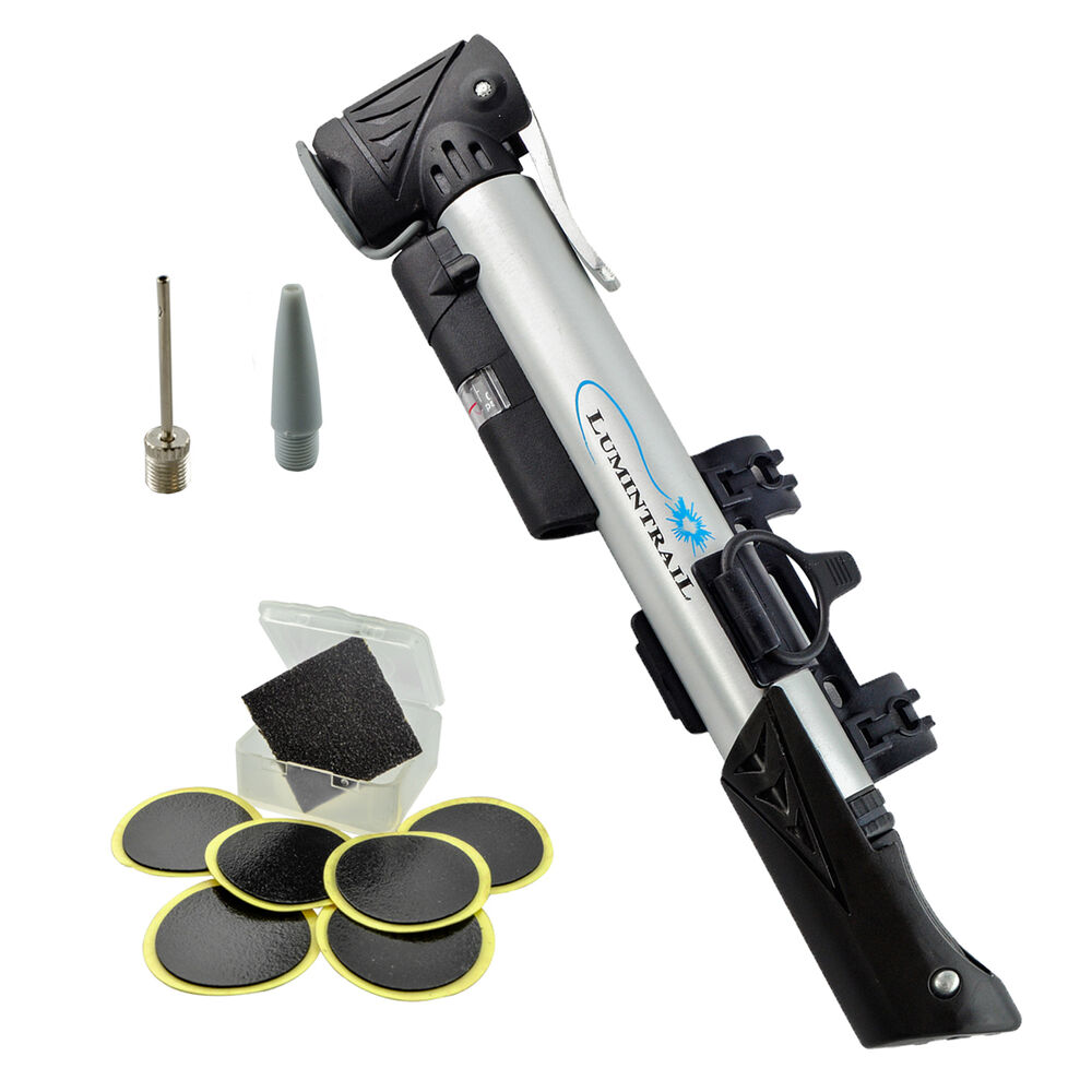 Lumintrail Mini Telescoping Frame Mount Bike Pump W Gauge