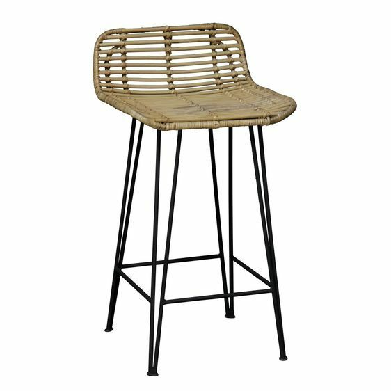 New Kayu Estate Coronado Rattan Bar Stool Ebay