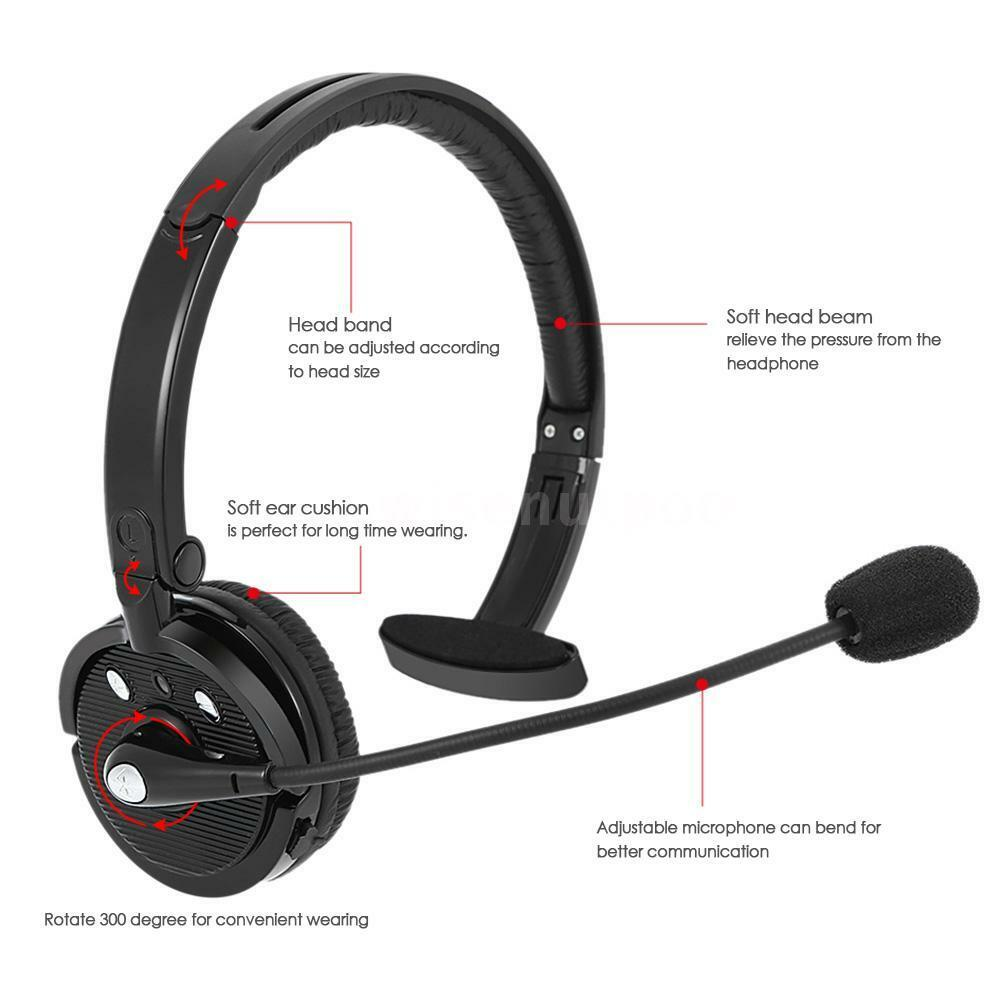 Call Center Wireless Headset Headphone Noise Cancelling Bluetooth With Mic C4G3