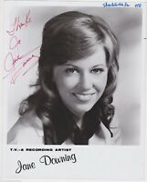 JANE DOWNING TV COUNTRY MUSIC SINGER AUTOGRAPH SIGNED PROMO PHOTO