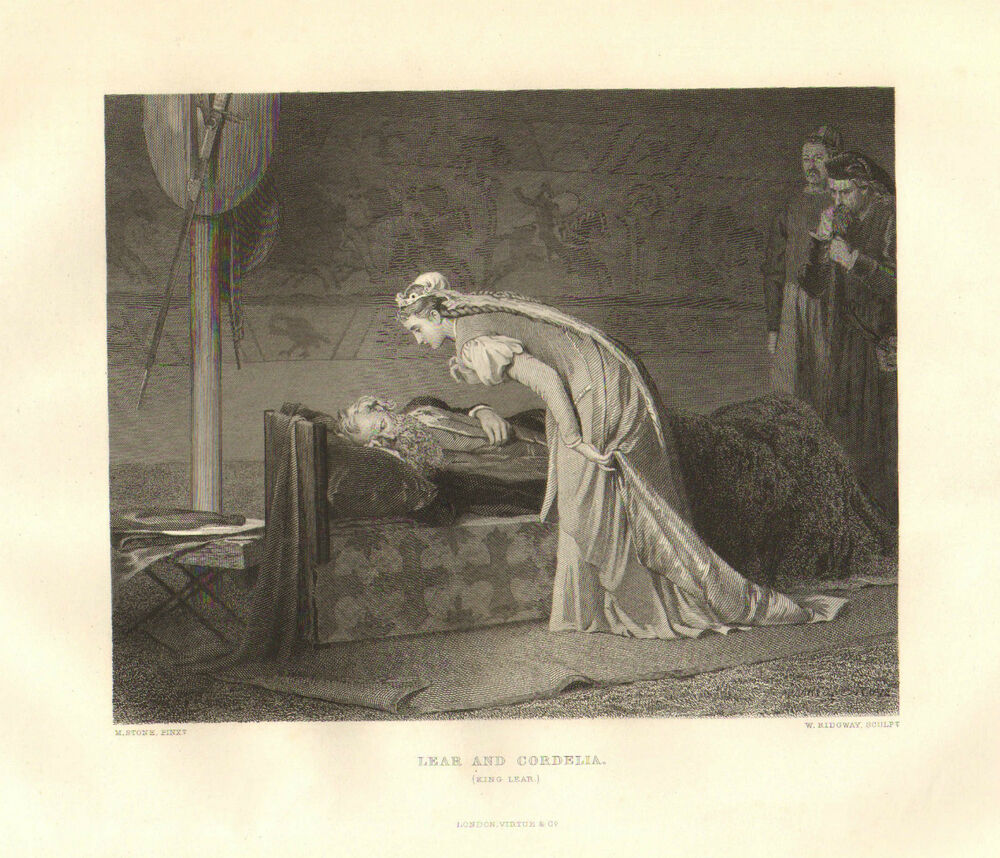 Art 1876 Shakespeare Print ~ King Lear ~ Lear And Cordelia