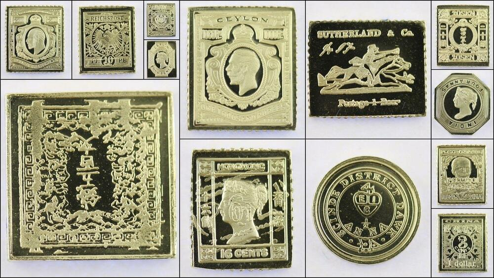 100 Greatest Stamps Collection 925 Silver Bar Replicas