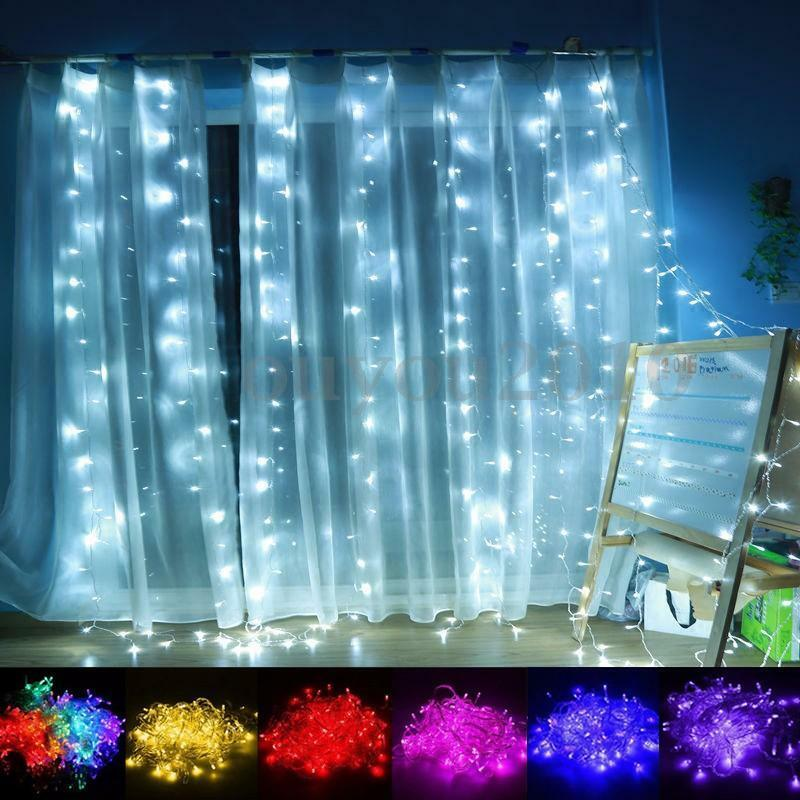 outdoor christmas xmas wedding party fairy string curtain. Black Bedroom Furniture Sets. Home Design Ideas