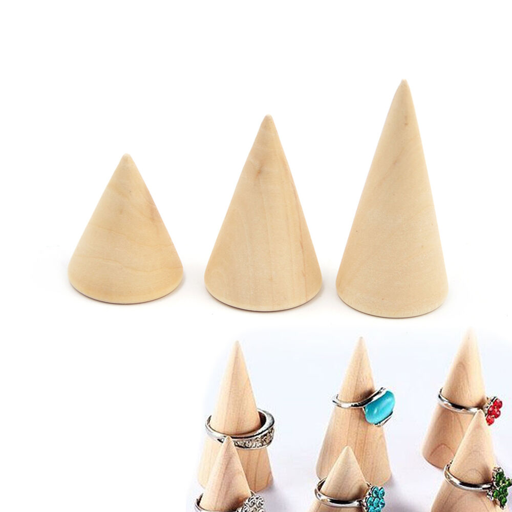 Wooden Cone Ring Holder