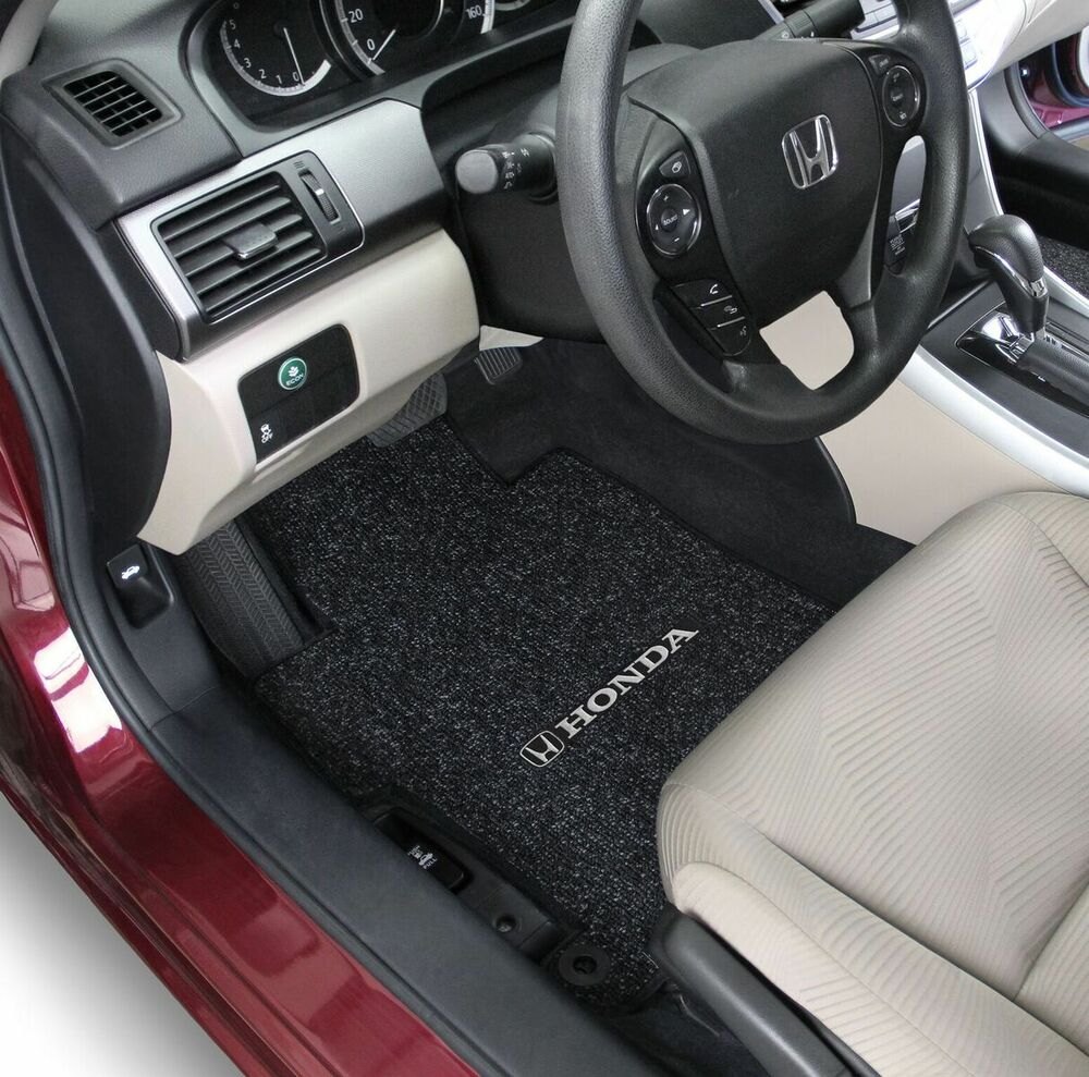 Honda Civic 2 Door Fit Carpet Floor Mats 3pc W Logo On