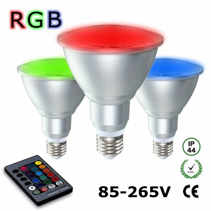 20w e27 dimmable par30 rgb led light color changing bulb remote control 85 265v 969843212448 ebay. Black Bedroom Furniture Sets. Home Design Ideas