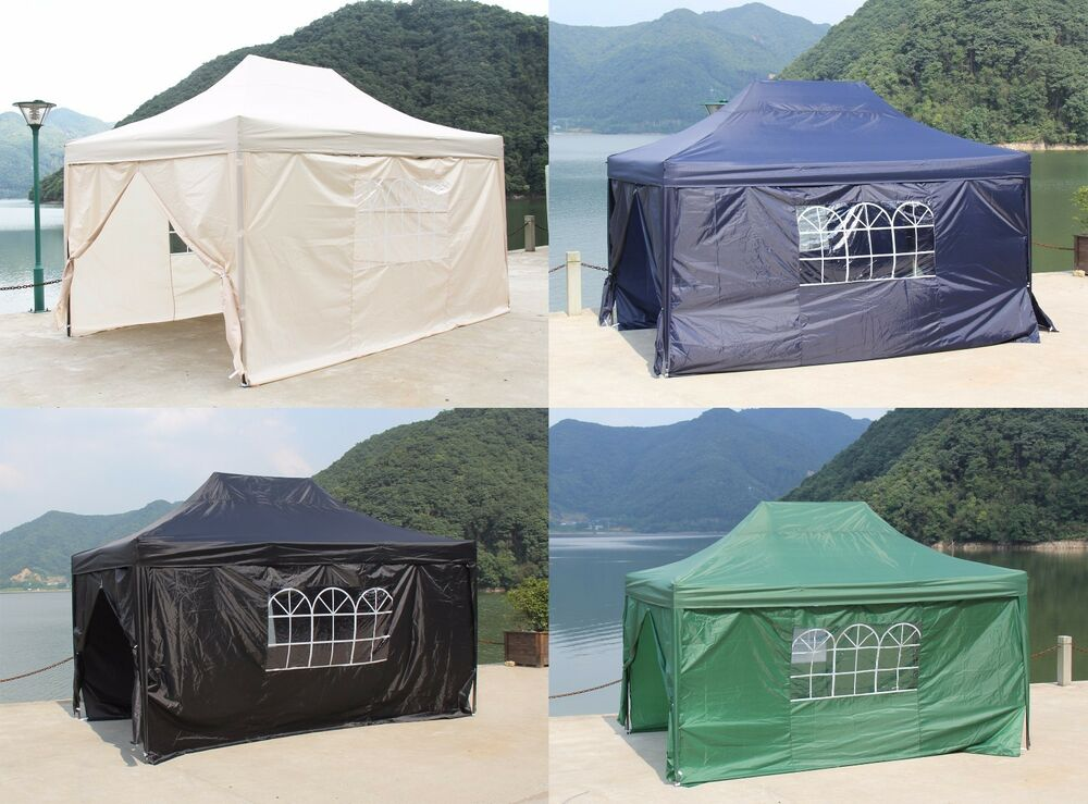 Pop Up Waterproof Garden Gazebo 3x4 5m Wedding Tent