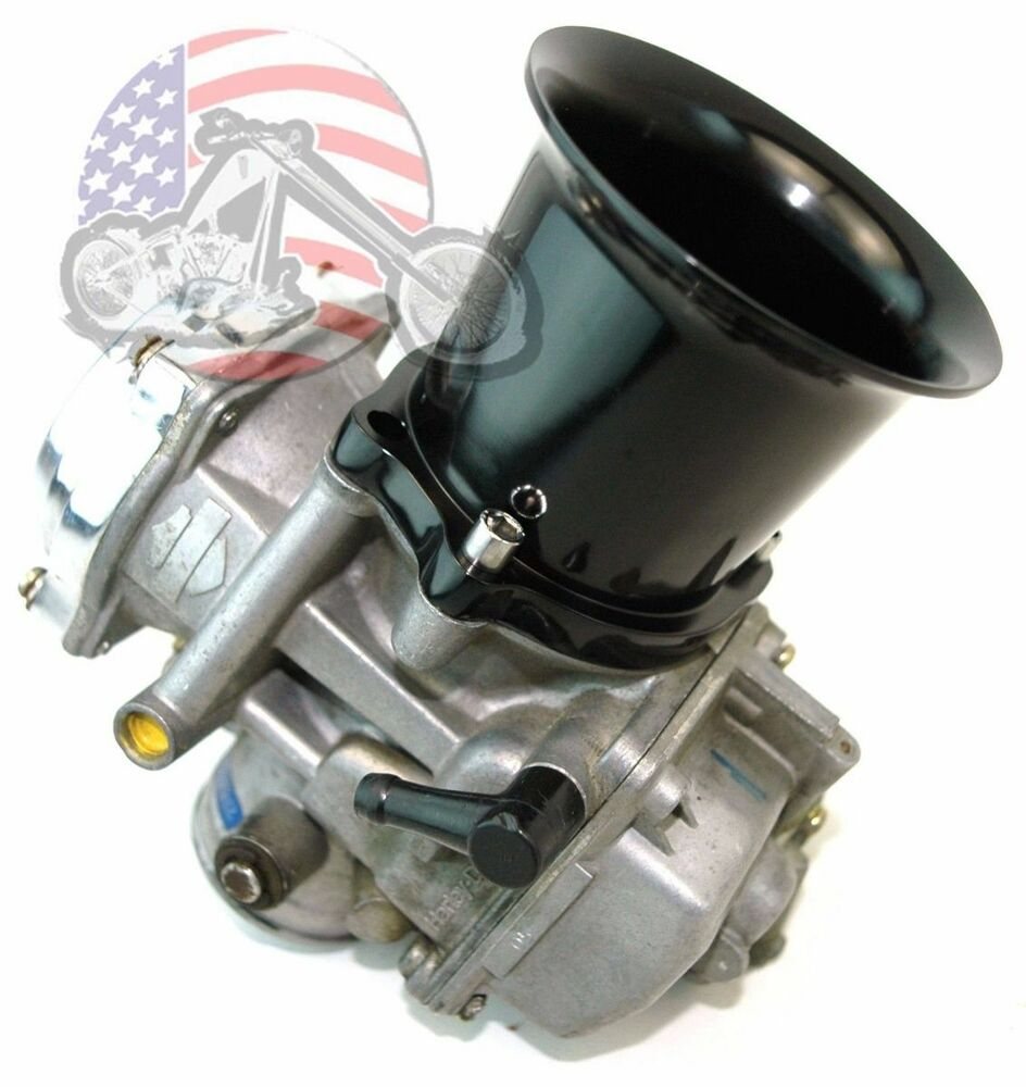 gloss black billet velocity stack 2 5 u201d cv carb carburetor efi air intake harley