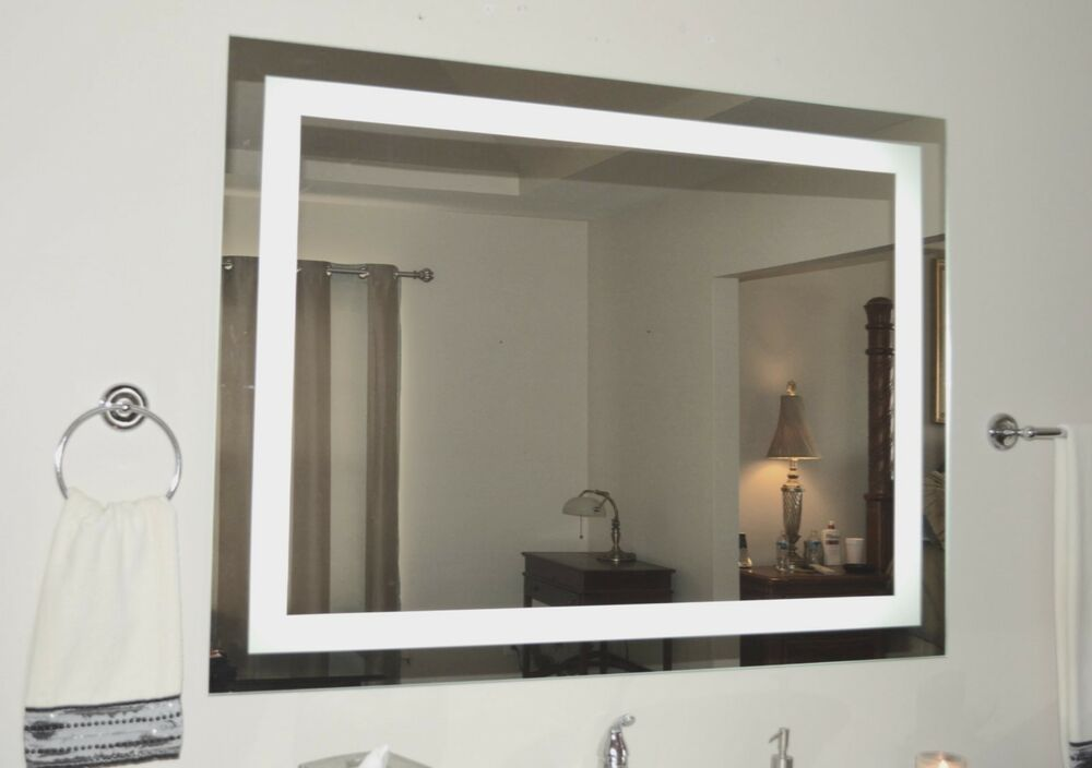 lighted vanity mirror led lighted wall mounted mam85636 56 wide x 36 tall ebay. Black Bedroom Furniture Sets. Home Design Ideas