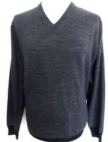 FRED PERRY Jumper Men's V-Neck Knitwear Cotton Marl Navy Sizes: X-Large