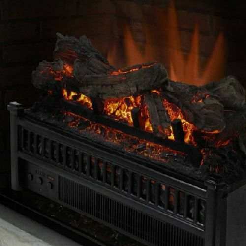 Electric Fireplace Logs Heater Realistic Flame Hearth