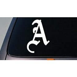 LETTER A 6'' DECAL OLD ENGLISH TRUCK CAR WINDOW TEACH GIRL CRAFT COLLEGE *C111*