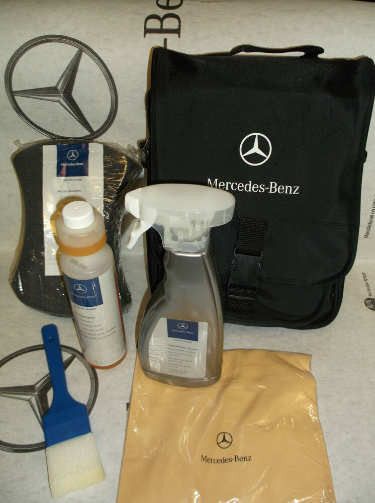 New genuine mercedes benz car care cleaning kit shampoo - Mercedes benz exterior car care kit ...
