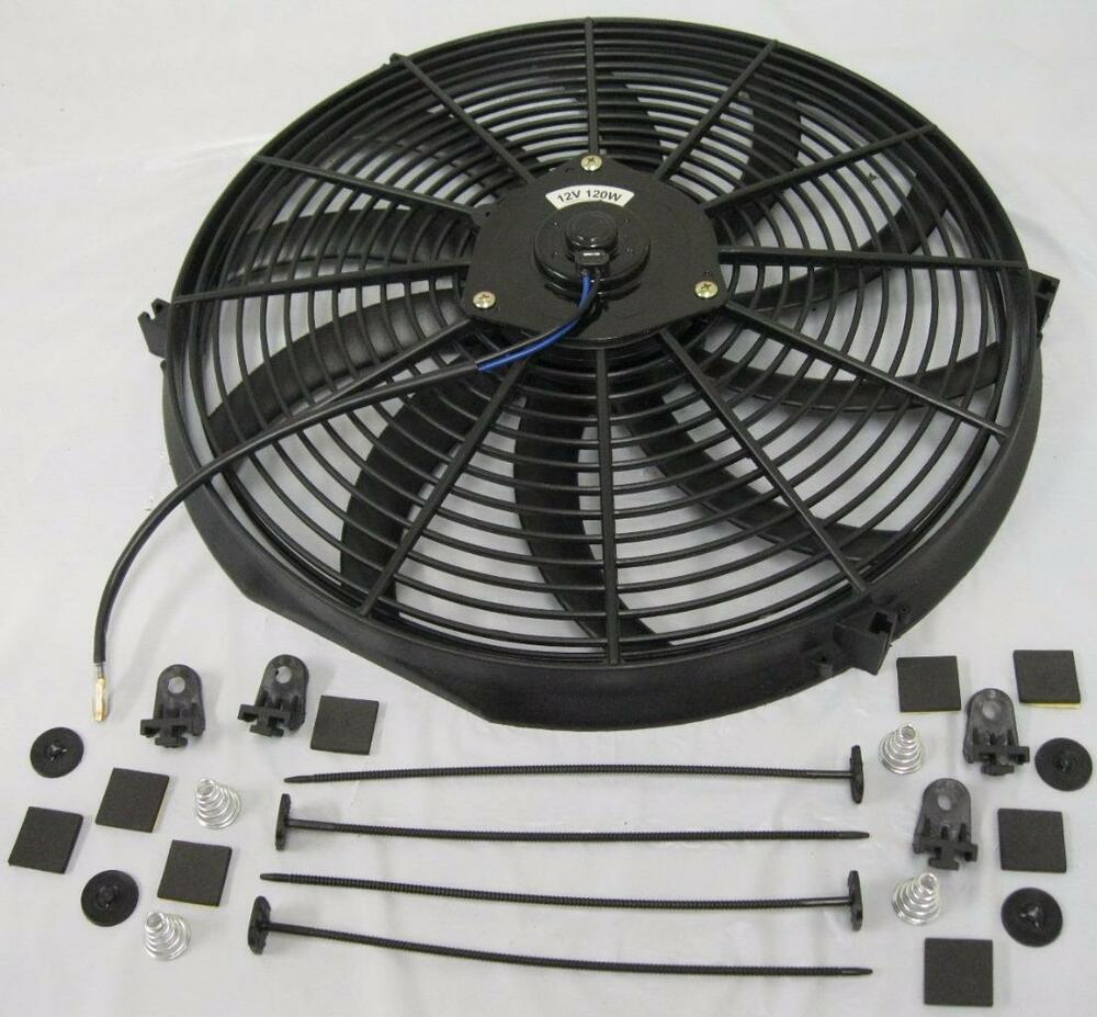 Radiator Cooling Fans : Quot curved s blade heavy duty electric radiator cooling