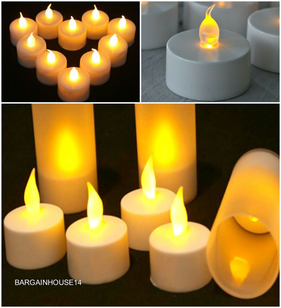 Home Decor Ideas With Candles: Flameless LED Candle Flickering Tea Lights Battery