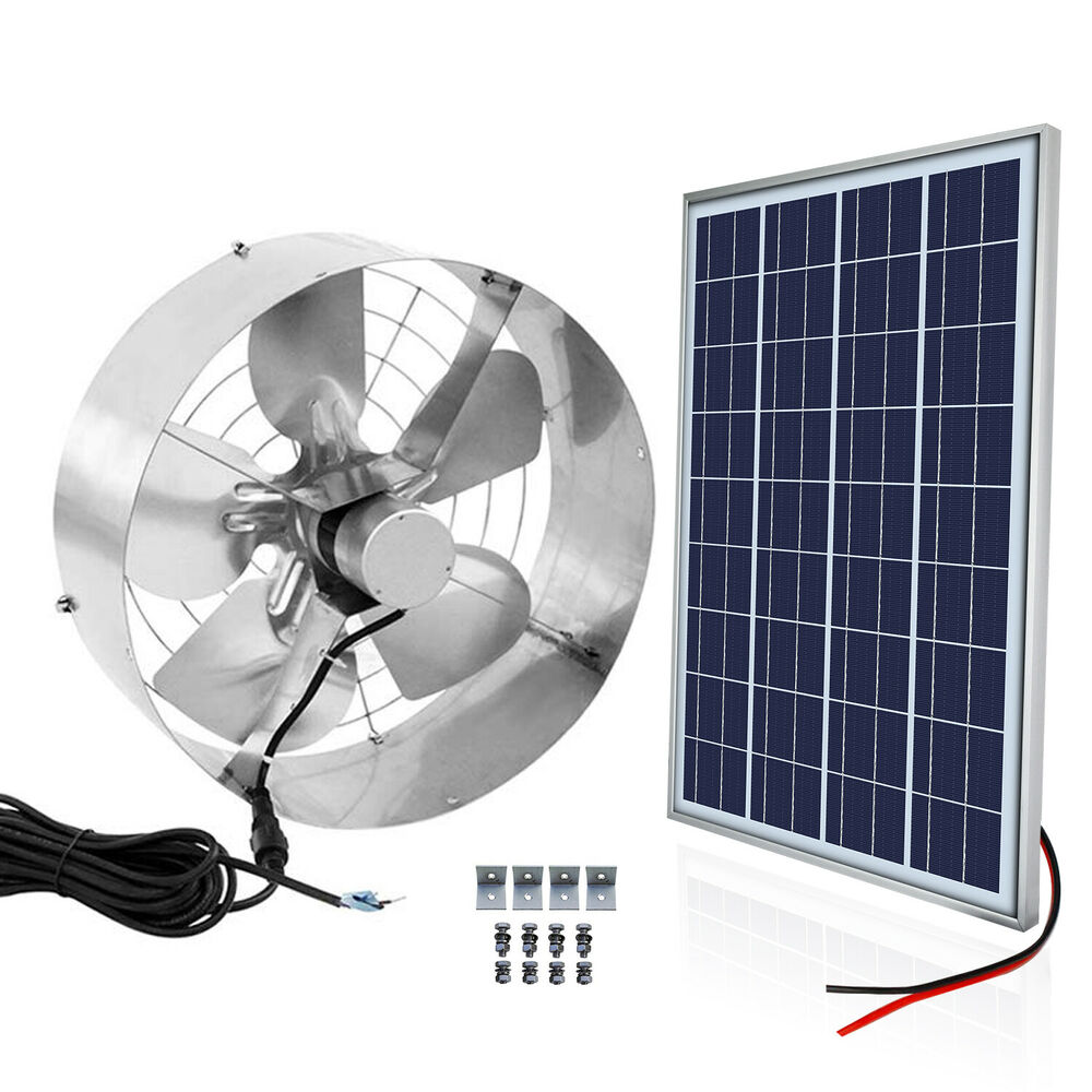 Solar Power 65w Ventilator Gable Roof Vent Fan W 25w