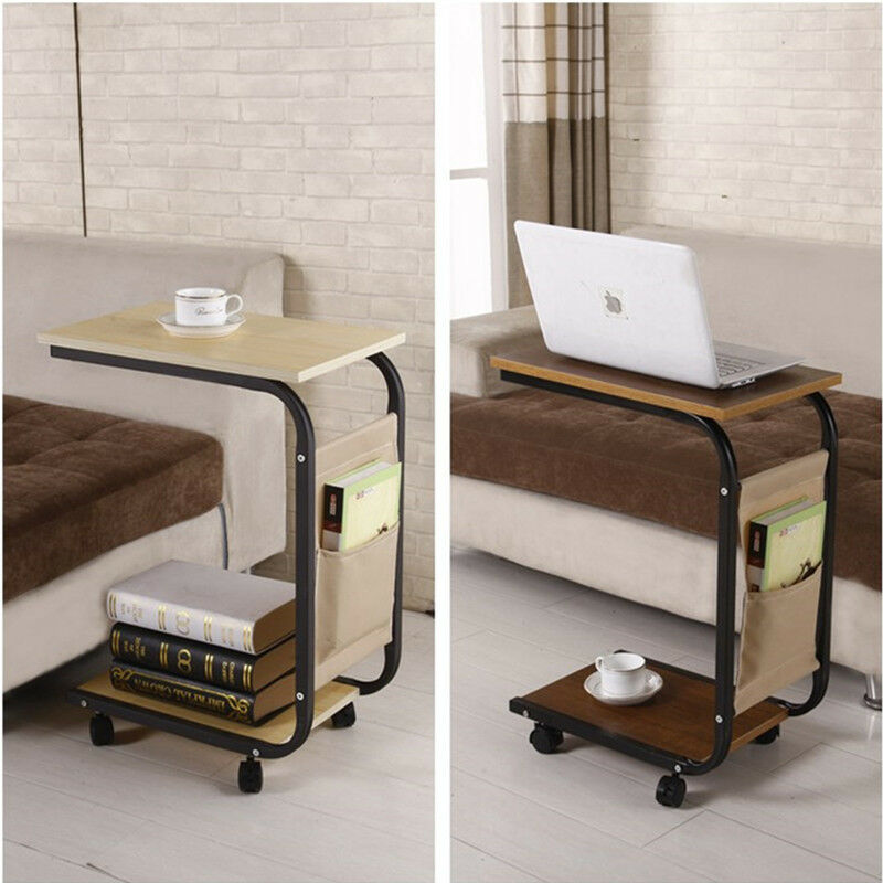 Living room sofa side end snack coffee table stand tray for Side table for sectional sofa